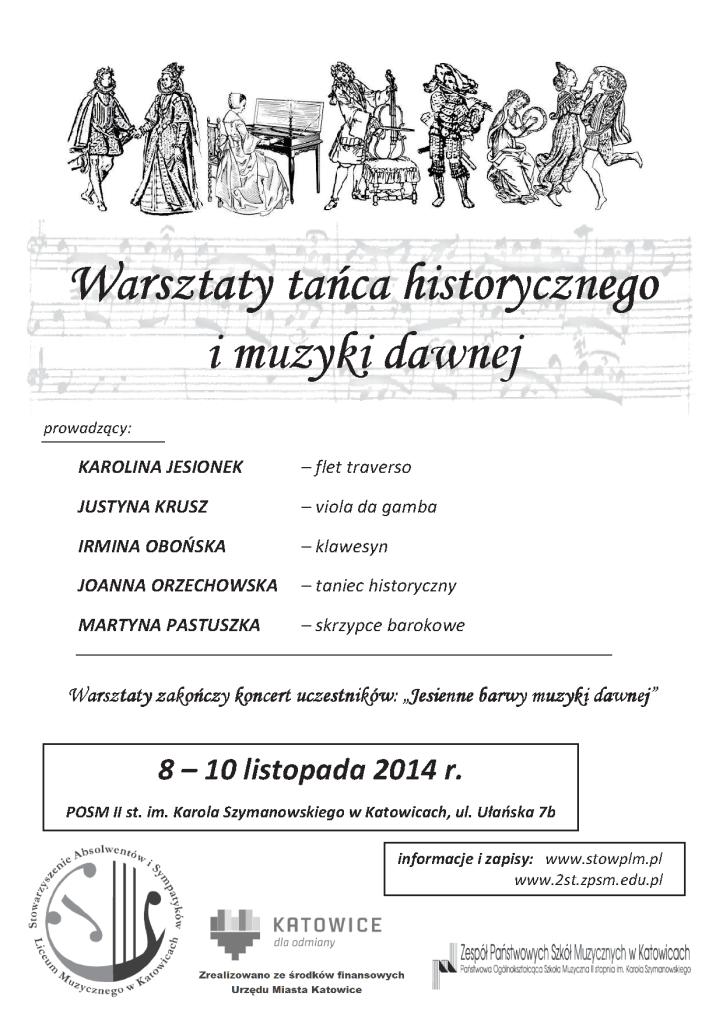 Warsztaty tańca historycznego i muzyki dawnej